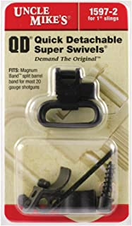Uncle Mike's Quick Detachable Magnum Band Sling Swivels for Single and Over/Unders, .700-.750-Inch Diameter (Blued, 1-Inch Loop)
