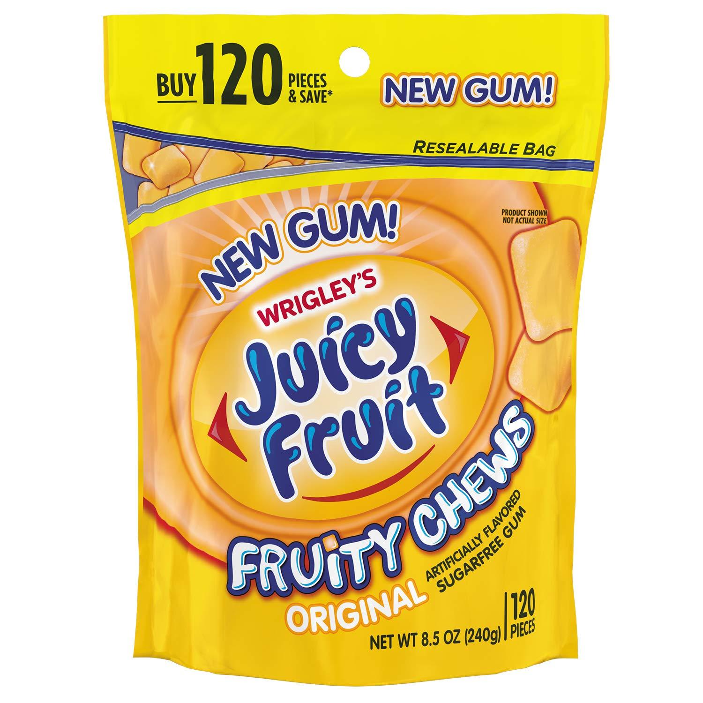 Juicy Fruit, Fruity Sugarfree Chewing Gum, 120 ct