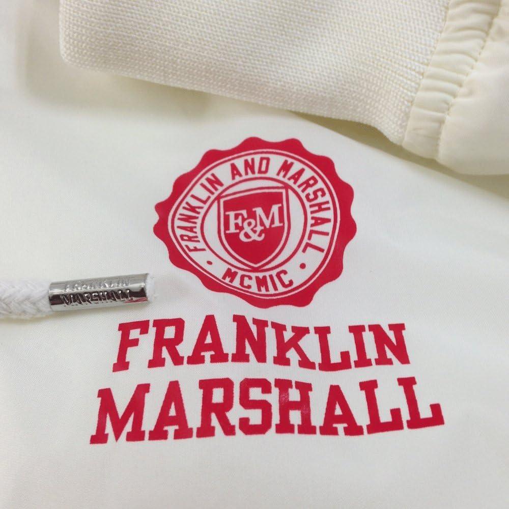 Franklin /& Marshall Giubbotti Uomo Cappuccio Antivento Chiusura Full Zip Fasce Elastiche sui Polsini e in Vita Due Tasche Laterali con Zip