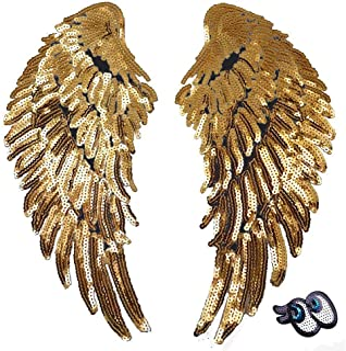 10 pcs 11*4cm wide gold black craft appliques patches lace trim for dress clothing ML210P791 free ship