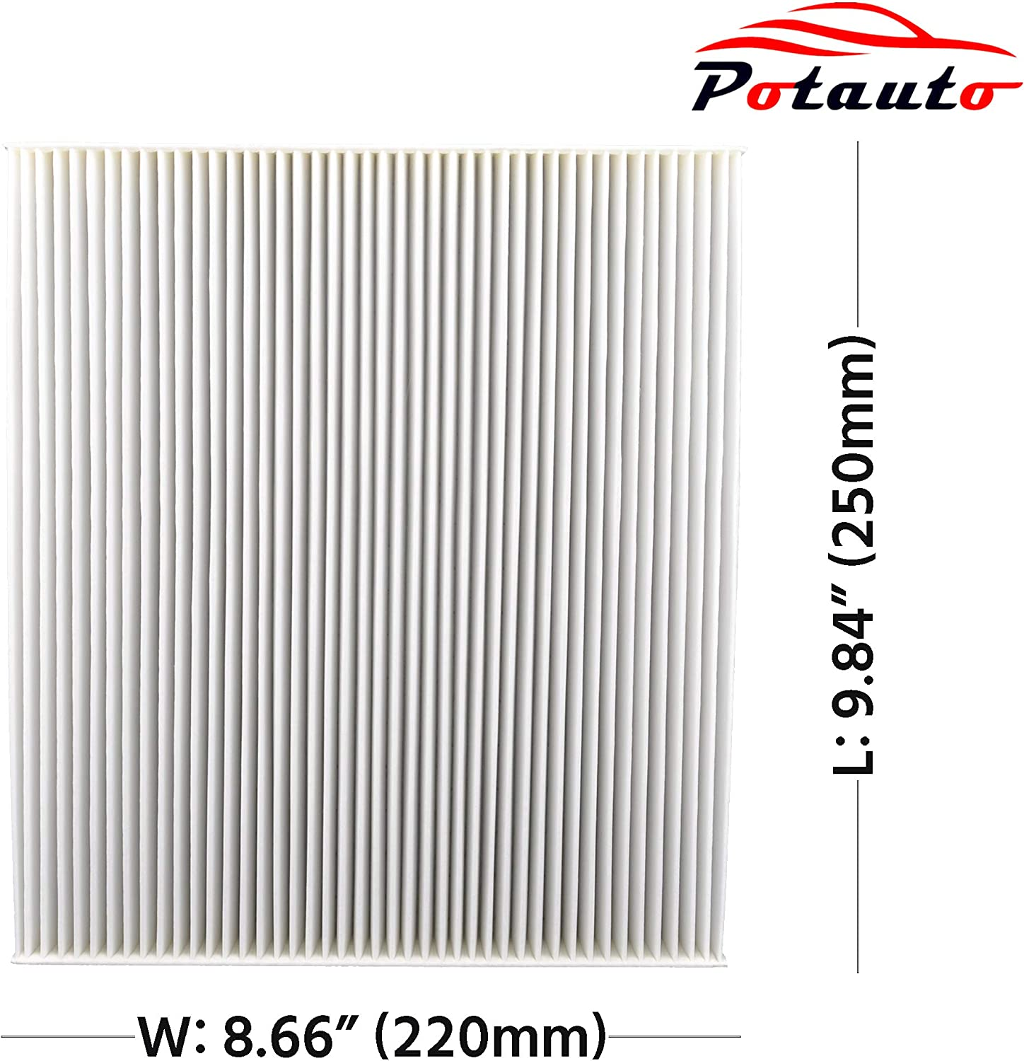 CF10381 High Performance Car Cabin Air Filter Compatible Aftermarket Replacement Part POTAUTO MAP 1015W