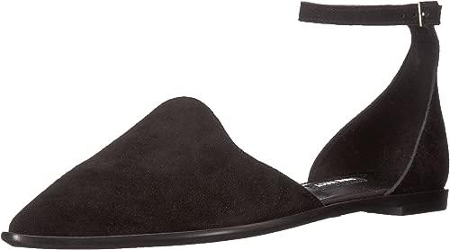 Nine West Woherren Oriona Suede Flat Sandal, schwarz Suede, 6 Medium US