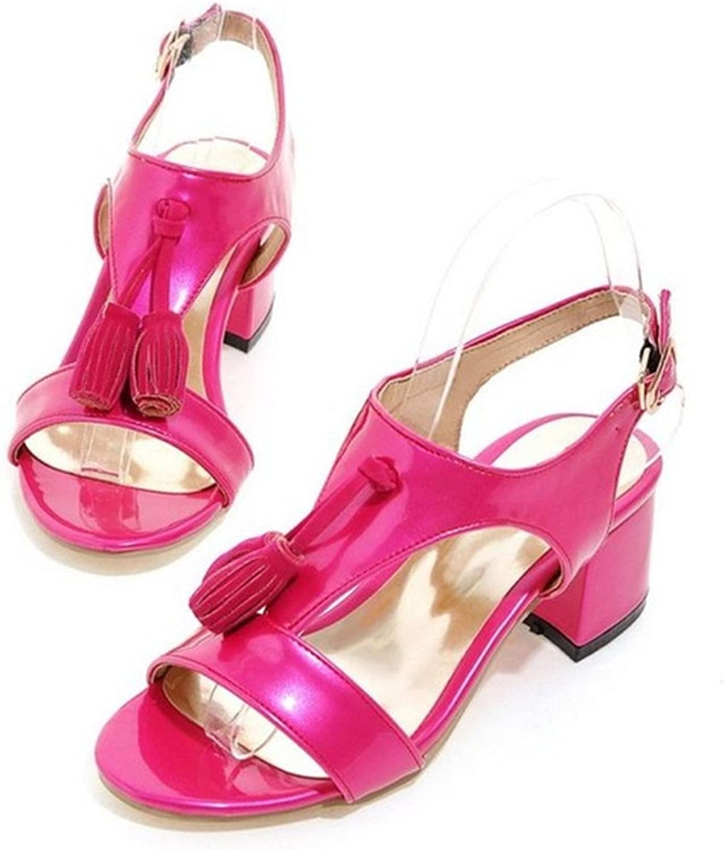 Ladiamonddiva Sandals Pumps Woman Square Heel shoes Women Fashion Tassel High Heel Sandals Female Buckle Strap Footwear Heeled shoes Size 31-43