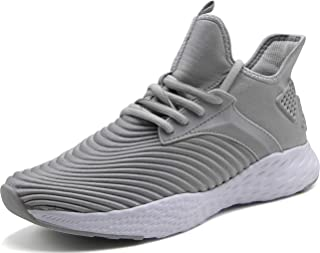 Weweya Men's Sneakers Ultra Lightweight Tennis Shoes Athletic Gym Walking Shoes with Arch Support