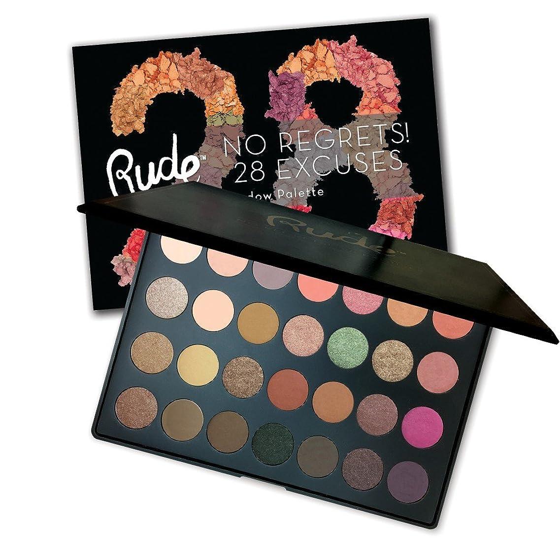 逆さまに支配する寝室を掃除するRUDE No Regrets! 28 Excuses Eyeshadow Palette - Virgo (並行輸入品)