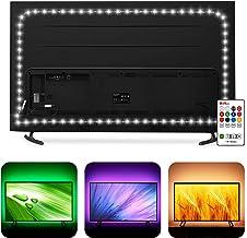 Bias Lighting 60 65 inch TV LED Strip Lights Backlight Kit - 14.4ft USB Powered RGBW 6500K White LED Light Strip with RF R...