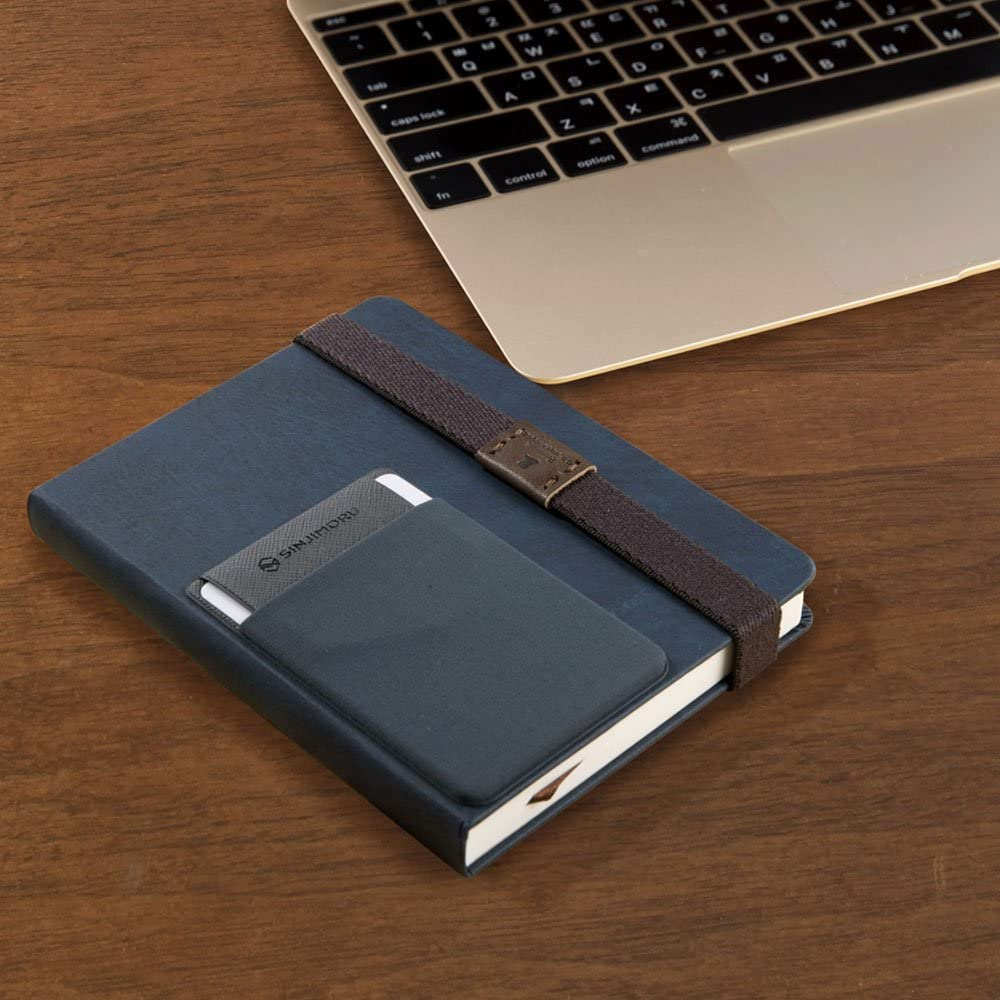 Business card holder Black Ultra-slim stick on Wallet iPhone /& Android Smartphone Card Case Sinjimoru Credit Card Holder Card Case and Money Clip Credit Card Wallet Sinji Pouch Flap
