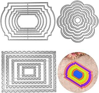 FineGood Lot de 3 matrices de découpe en métal pour gaufrage, création de cartes, scrapbooking, décoration d'albums