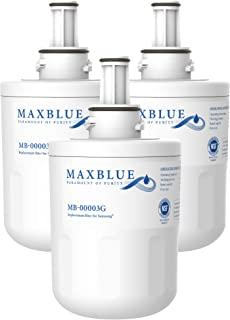 Maxblue DA29-00003G Refrigerator Water Filter, Replacement for Samsung DA29-00003G, DA29-00003B, RSG257AARS, RFG237AARS, DA29-00003F, HAFCU1, RFG297AARS, WFC2201, 3 Filters (Package May Vary)