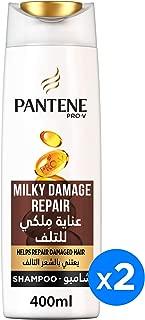 Pantene Pro-V Milky Damage Repair Shampoo 2 x 400 ml Dual Pack