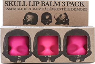 Rebels Refinery Capital Vices Skull-Shaped Lip Balm for Shine-Free Moisturizing – Mint Flavor, Pack of 3 – Vitamin E Antioxidant and Coconut & Sweet Almond Oil Extracts Nourish Chapped Lips – Pink