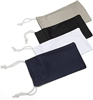 ALTEC VISION Microfiber Pouch - Soft Sunglasses Case - Eyeglass Cleaning Cloth