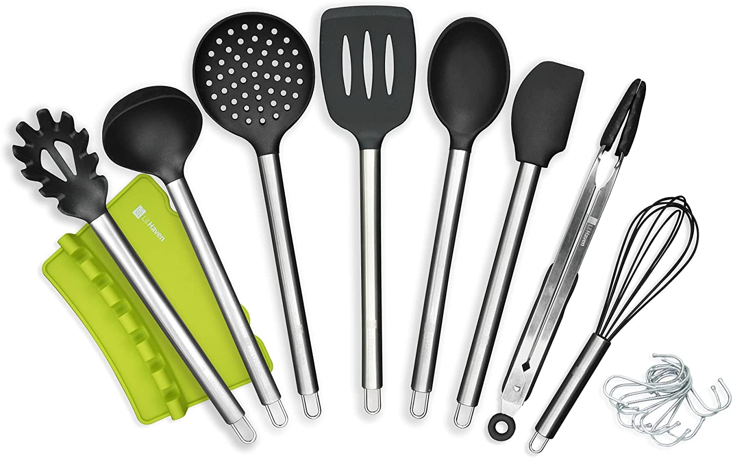 Non-Stick Heat Resistant Silicone Kitchen Utensil gift Set Max 77% OFF Stain with