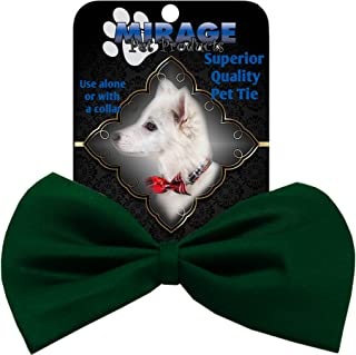 Mirage Pet Products 48-32 EG Plain Bow Tie, Emerald Green, Small