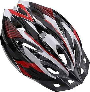 Shinmax Casco de Bicicleta Certificado CE Casco de Bicicleta para Hombre con Visera Desmontable Casco de Ciclismo Ligero P...