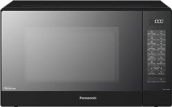 Panasonic NN-GT46K - Microondas con Grill (1000W, 31L, 7 niveles, Grill Cuarzo 1100W, Plato Giratorio de 340mm, Control táctil, 24 modos, Turbo Defrost, Genius Sensor, tecnología Inverter) Negro