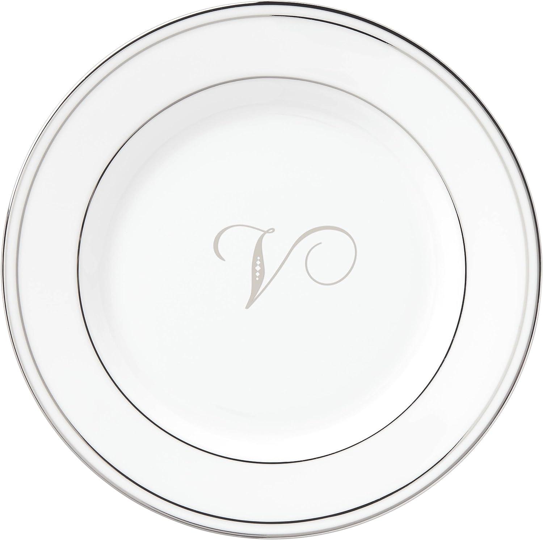 Lenox Federal Platinum Script Monogram Butter OFFicial shop P Dinnerware Ranking TOP5 Bread