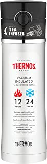 Thermos 膳魔师 16盎司(454g)不锈钢 水杯带茶叶漏网 黑色