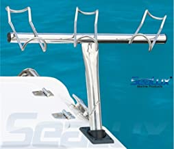 SeaLux Marine 316 Stainless Steel 3-way Angled Snapper Rod Holder (port)