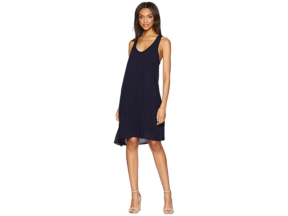 Splendid Rayon Voile Double Layer Dress (Navy) Women