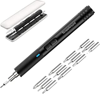ScopeAround Portable Electric Screwdriver - Cordless Power Screwdriver Rechargeable, Smart Screw Motion Control, USB Charging with 13 Precision Bits and 3 LED Light, Repair Tools for Electronic Device
