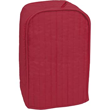 RITZ Polyester / Cotton Quilted Stand Mixer or Coffee Maker Appliance Cover, Dust and Fingerprint Protection, Machine Washable, Paprika Red