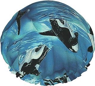 Ocean Killer wieloryby wodoodporna czepek prysznicowy z elastycznym obszyciem odwracalna konstrukcja do prysznica czapka d...