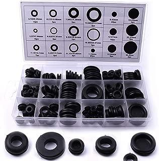 Kit de arandelas de goma, 125 unidades, arandelas de goma, surtido de juntas, juego de 18 tamaños diferentes, cable eléctrico, juego de juntas de enchufe y cable