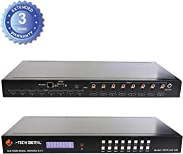 J-Tech Digital 8X8 HDMI Matrix Switcher 4K@60Hz 4:4:4 Ultra HD HDMI 2.0 Supports HDCP 2.2/1.4, EDID, DTS, Dolby HD, Control4 Driver [JTECH-8X8-H20]