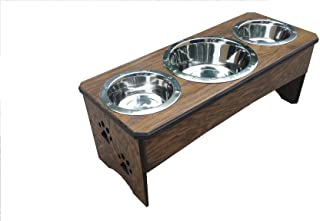 BOW WOW WOW DESIGNS 3 Bowl Dog Feeder 12 in. Tall