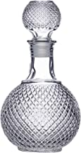 Home Bar 1000ML Round Ball Shape Whiskey Wine Beer Water Drinking Glass Bottle Decanter with Cap Stopper