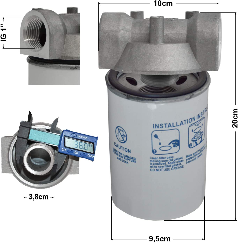 Kraftstofffilter Dieselfilter Mit Austauschbarem Filter Einsatz Für Dieselpumpen Kraftstoffpumpe Heizölpumpen Biodiesel Umfüllpumpen Plus Messing Schlauchtülle 1 Ag Baumarkt