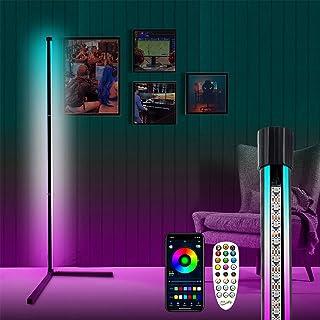 LENDOO Lampadaire LED, lampadaire RGB dimmable/timing/synchronisation musicale/éclairage double face。adapté au salon, deco...