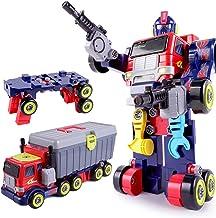 iPlay, iLearn Kids 3 in 1 Large Transformer Toys, Transform into Robot Action Figure, Truck & Tool Workbench, Preschool ST...