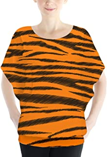 Rainbow Rules Tigger Stripes Winnie The Pooh Inspired Batwing Chiffon Top