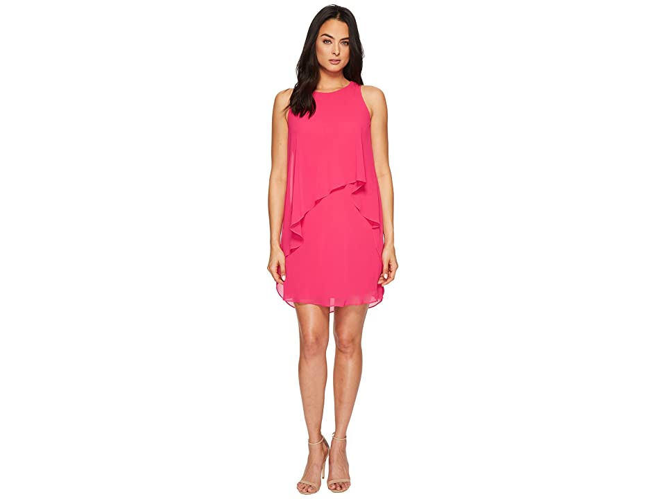 LAUREN Ralph Lauren Lonia Georgette Dress (Tropic Pink) Women