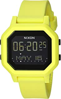 Siren A1210-100m Water Resistant Women's Digital Sport Watch (38mm Watch Face, 18mm-16mm Pu/Rubber/Silicone Band)