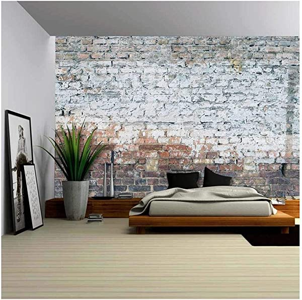 Wall26 Aged Street Wall Background Removable Wall Mural Self Adhesive Large Wallpaper 100x144 Inches