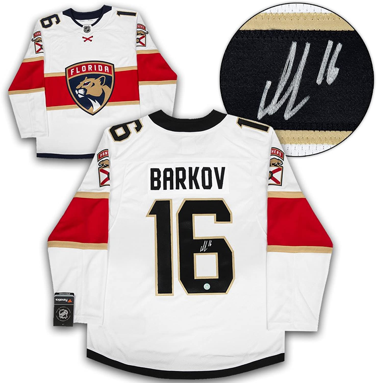 Aleksander Barkov Florida Panthers Signed White Fanatics Replica Hockey Jersey