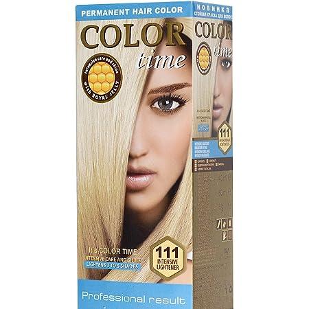 Color time, tinte permanente para el cabello de color blanqueador 111