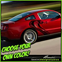 2005 2010 2015 GT Cobra Jet Vinyl Snake Graphics Decal 2006 2007 2009 Compatible with Mustang (Gold)
