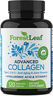 Advanced Collagen Supplement, Type 1, 2 and 3 with Hyaluronic Acid and Vitamin C - Anti Aging Joint Formula...