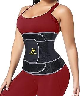 NINGMI Midjetränare för kvinnor svettbälte cincher korsett bastu avfall mage magträning band magen wrap shaper rem