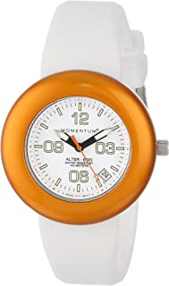 Momentum Women's 1M-SP99WO1W Alter Ego Orange Bezel White Watch