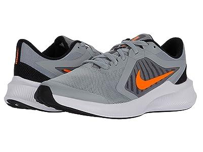 Nike Kids Downshifter 10 (Big Kid) (Light Smoke Grey/Total Orange/Black/White) Kid