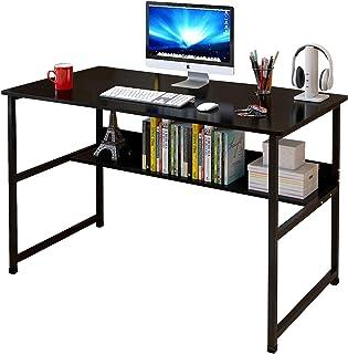 JOYSEUS Study Table with Bookshelf Works as Computer Desk Home Office Desks & Workstations (FB10-Black)