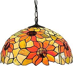 KANJJ-YU Pendant Lamps Sun Flower Creativity Pendant Light, with 16 Inches Wide Handmade Lamp Shade Lighting Fixture Chand...