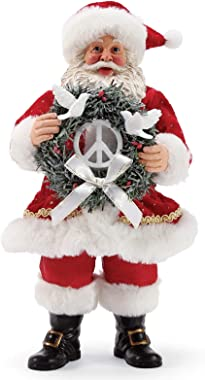 Department 56 Possible Dreams Santas Peace Wreath Figurine, 10.5 Inch, Multicolor