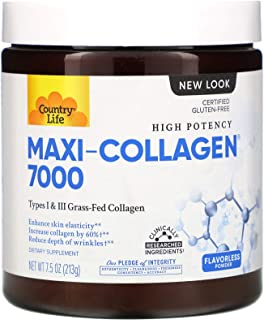 Country Life, Maxi-Collagen, C & A plus Biotin, High Potency, Flavorless Powder 213 g