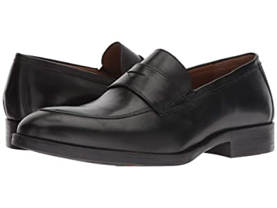 Johnston & Murphy Alcott Penny (Black Calfskin) Men